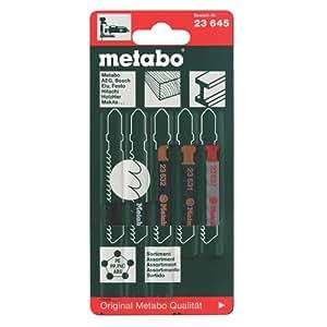 Metabo - Coffret de lames pour scie sauteuse - 5 pièces (Import Allemagne)