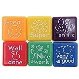 Lalang 6pcs Tampons à encre auto-encrage les enseignants cadeaux timbres jouets stickers enfants