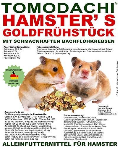 Tomodachi Hamster\'s Goldfrühstück Hamsterfutter mit tierischem Eiweiß, Alleinfuttermittel für Hamster mit Bachflohkrebsen (Gammarus), leckerem Gemüse, Körnern und Saaten, 5kg Sack