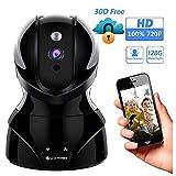 Wlan IP Kamera, YATWIN 720P HD WiFi Überwachungskamera, mit 350°/100°Schwenkbar,Home und Baby Monitor mit Bewegungserkennung, Zwei-Wege-Audio, Nachtsicht, unterstützt Fernalarm und Mobile App Kontrolle