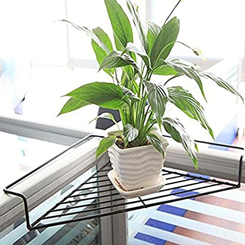 Fittoway Iron Wire Outdoor Corner Shelves Office Desktop Stand Space-Saving