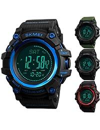 PeiXuan2019 Hombres, Deporte Digital, Reloj Militar con altímetro barómetro, termómetro, compás,…