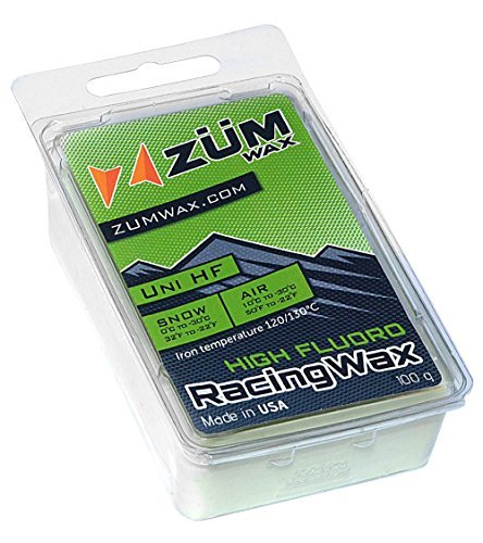 ZUMWax HIGH FLUORO RACING WAX Ski/Snowboard - All Temperature Universal - 100 gram - HIGH FLUORO RACING WAX at incredible price!!! Super-FAST!!! by ZUMWax -