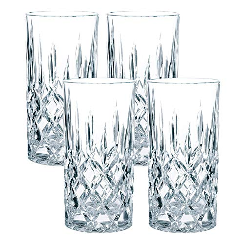 Spiegelau & Nachtmann, 4-teiliges Longdrink-Set, Kristallglas, 375 ml, Noblesse, 0089208-0 -