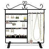 Grinscard - Design Jewelry Stand Pendiente Holder Chain Holder Ring Holder Organizador de joyas hecho de metal...