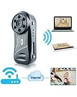 TEKMAGIC Wifi Caméra Mini DV Caméscope Enregistreur Vidéo avec Audio Enregistrement pour iPhone Android Smartphone APP Vue à Distance