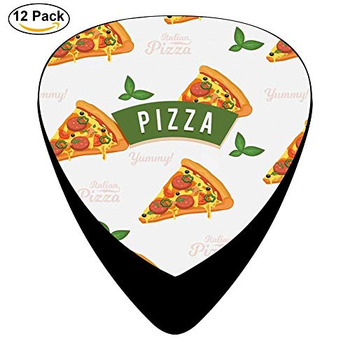 Pizza Slices With Cheese Celluloid Electric Guitar Picks 12-pack Plectrums For Bass Music Tool