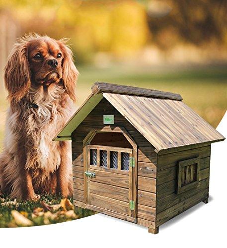 %Haustierbett Haustier-Haus-im Freien karbonisiertes regendichtes festes Holz-Hundehaus-Hundehütten-Haus -X154 Haustier Nest (größe : Xs)