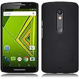 TopAce® Coque de haute qulity de Etui Housse + protecteur d'écran pour Motorola Moto X Play 5.5-Inch(Noir)