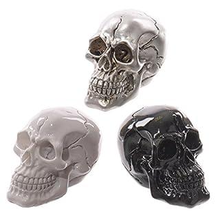 Set Of 3 Novelty Gruesome Small Skull Decoration