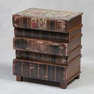 En imitation cuir Style Livre de rangement empilable Bureau Table d'appoint