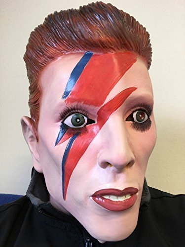 (Ziggy Bowie Maske Latex Überkopf Sternstaub Mars David Kostüm Pop Starman Masken)