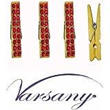 Varsany Juego de imán para nevera Bling Diamante Gem cristal memo decoración Craft, amarillo, rojo