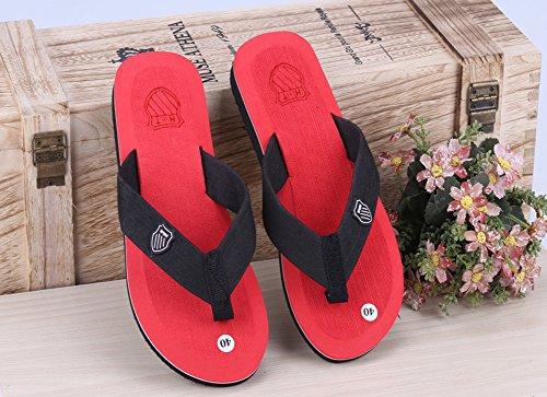 Wealsex sandalen herren zehentrenner Rot