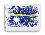 Nauru Yaren Country Series Nationality Flag Nice To Estuche para Tarjetas de crédito tamaño...