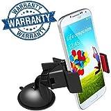 5g Gold 360-Degree Rotation Car Mount Holder/Car Mobile Holder For Smartphones Adjustable With Desktop/Car /Windshield/Office Table- Black