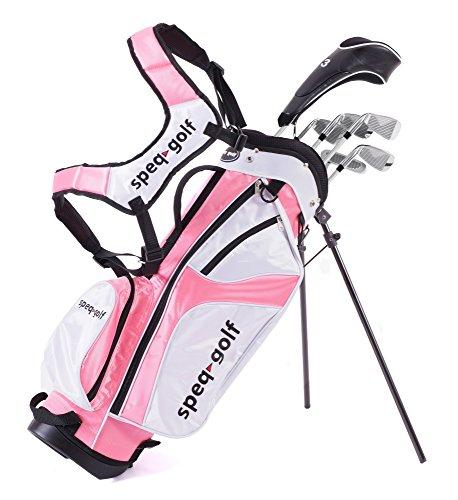 Speq Demi-série de golf gaucher pour enfant avec sac Bleu...