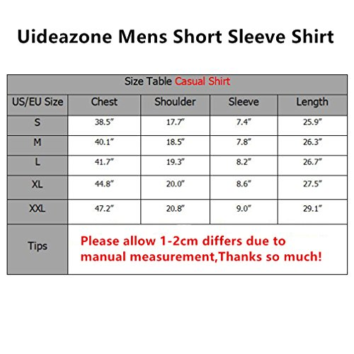 uideazone Mens 3D-Druck-Hipster Hemd mit Kurzen Ärmeln Lässige Graphics Tees 52
