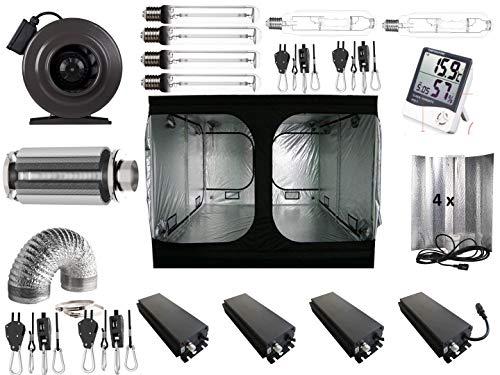 Nito GmbH Growbox Grow VSG MH Kit Complet 400 W NDL 200 x 200 x 200 cm 4 x 660 Watt dimmbar