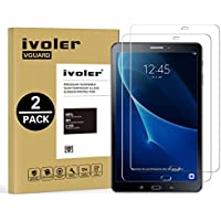 [Nuevo Version] Protector de Pantalla Samsung Galaxy Tab A 10.1 2016 (T580N/T585N), iVoler [2-Unidades] Cristal Vidrio Templado Premium Para Samsung Galaxy Tab A 10.1 2016 (T580N/T585N) [9H Dureza] [Alta Definicion 0.3mm] [2.5D Round Edge]