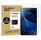 [Upgrade Version] Verre Trempé Samsung Galaxy Tab A 10.1'' 2016 (T580N/T585N), iVoler [Lot de 2] Film Protection en Verre trempé écran Protecteur - ANTI RAYURES - SANS BULLES D'AIR -Ultra Résistant Dureté 9H Glass Screen Protector pour Samsung Galaxy Tab A 10.1 2016 (T580N/T585N) - [Garantie à Vie]
