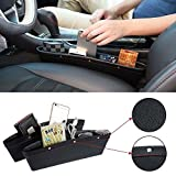 onemoret 2 x Leder Auto Pocket Box Caddy Car Seat Gap Slit Pocket Storage Organizer