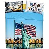 Bassetti Imagine.- Juego de sábanas American Dream para cama de 150 cms (4 piezas)