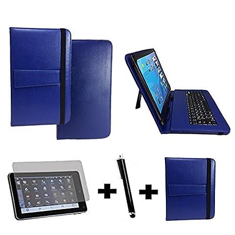 3Kit de démarrage pour Samsung Galaxy Tab A6Clavier QWERTZ Sacoche + Stylet + Film de protection–10.1pouces Clavier bleu