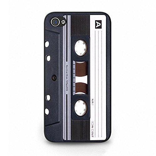 Cassette Tape Iphone 4/4s Case,Personality Clear Magnetic Tape Phone Case Cover for Iphone 4/4s Magnetic Tape Retro Color099d