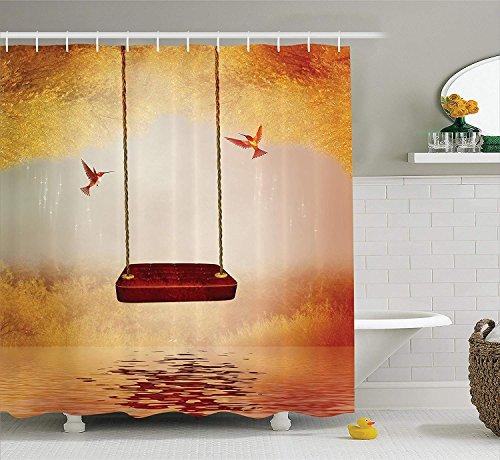 tgyew Sea Animals Decor Shower Curtain Set, Hammerhead Shark School Scan Ocean Dangerous Predator Wild Nature Illustration, Bathroom Accessories, 60 * 72inch, Navy Blue -