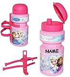 alles-meine.de GmbH Fahrradtrinkflasche -  Disney die Eiskönigin - Frozen  - Incl. Name - mit HA..