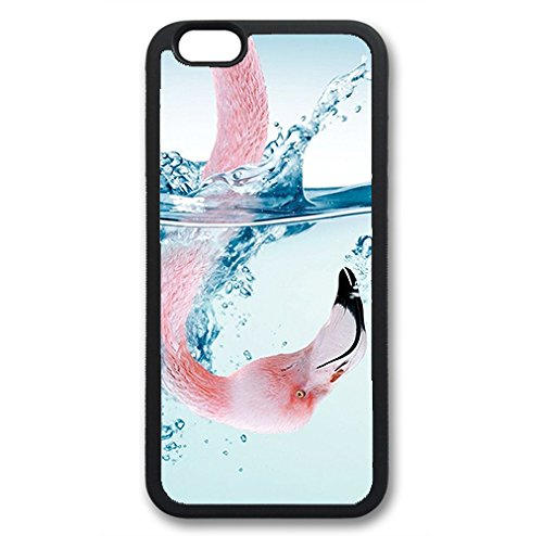 Coque silicone BUMPER souple IPHONE 6/6s - Flamant rose flamingo animal CASE tpu DESIGN + Film de protection INCLUS 5