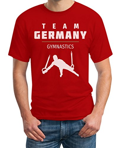 Gymnastics Team Germany - Deutschland Turner Rio T-Shirt Rot