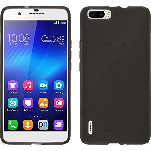 PhoneNatic Case für Huawei Honor 6 Plus Hülle Silikon schwarz transparent Cover Honor 6 Plus Tasche + 2 Schutzfolien