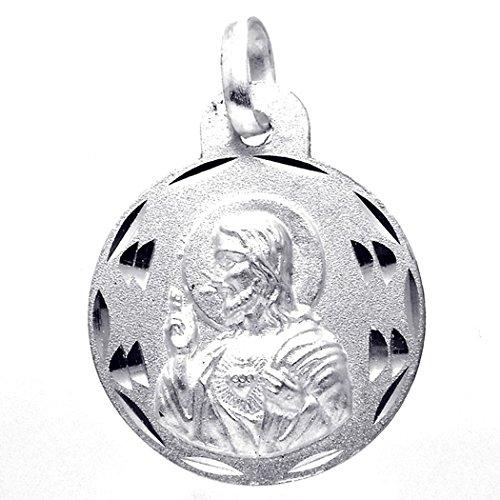 Medalla plata Ley 925m escapulario 18mm. Virgen del Carmen [8237]