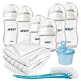 Philips Avent Premium PP-Flaschen-Set 11-tlg. - 6x Babyflaschen + Flaschenbürste + Milchpulverportionierer + 3x Spucktücher