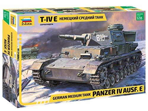 ZVEZDA 500783641 - 1:35 Panzer IV Ausf.E (Sd.Kfz.161) Germ., Modellbau, Bausatz, Standmodellbau, Hobby, Basteln, Plastikbausatz