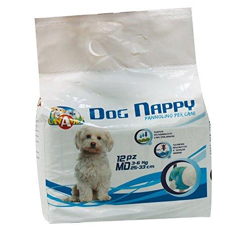 Croci - Pañales para perro, tamaño mediano, paquete de 12 unidades