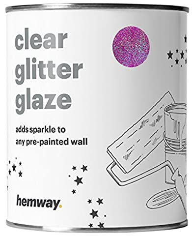Hemway 1L Clear Glitter Paint Glaze (Pink Holographic) for Pre-Painted