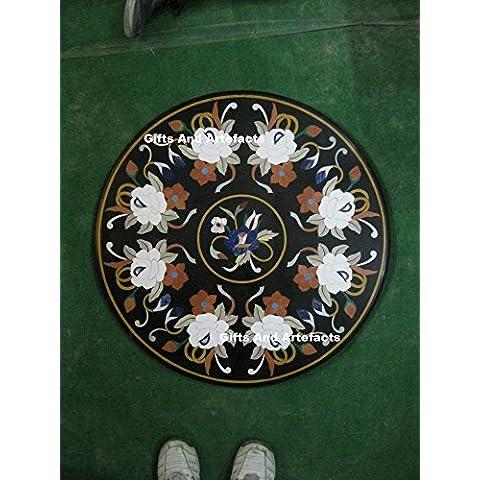 29nero semi preziosa pietra inserto per tavolo Marmo tavolo divano tavolo home office Decor