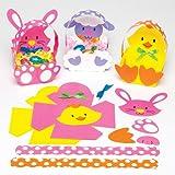 Baker Ross Cestini per uova di Pasqua da comporre, decorare e mettere in mostra, kit fai da te per bambini (confezione da 6)