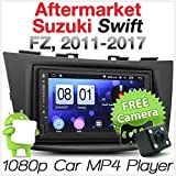 Tunez Android Auto MP3-Player für Aftermarket Suzuki Swift 3. 3. Suzuki Swift FZ NZ Baujahr 2011 2012 2013 2014 2015 2016 Stereo Radio Radioblende MirrorLink
