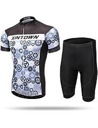 XINTOWN Hombre de Verano de Ciclismo Jersey con Bib Tights Hombre de manga larga BikeWaterproof / Breathable / Quick Dry / Windproof / aislados / Rain-Proof dientes ( Size : M )