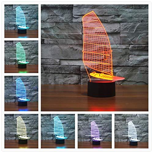 Zyue USB 3D Led Nachtlicht Touch USB Schreibtisch Motorrad Licht Baby Schlaflampe Kinder Nachtlicht Power Bank 3D Lampe,T