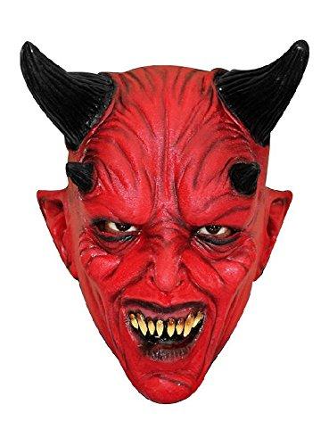 Teufel Kindermaske Luzifer Maske zum Halloween Kostüm Teufelsmaske