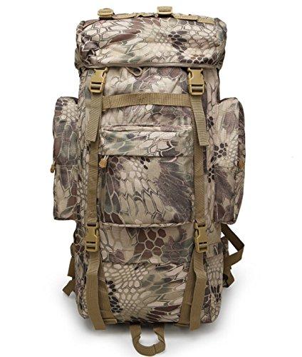 100L Außen Bergsteigen Camping Tasche Tarnung Taktische Rucksack Mit Regen Abdeckung Camouflage