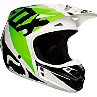 Casco Mx Fox 2018 V1 Race Blanco-Negro-Verde (Xs , Blanco)