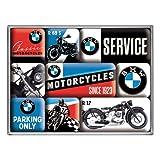 Nostalgic-Art 83077 BMW - Motorcycles, Magnet-Set (9teilig)