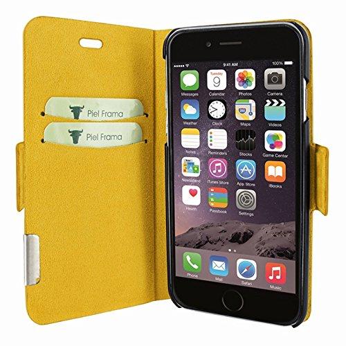 """Piel Frama """"FramaSlim"""" Lederhülle für Apple iPhone 7, verschiedene Farben Crocodile Yellow"""