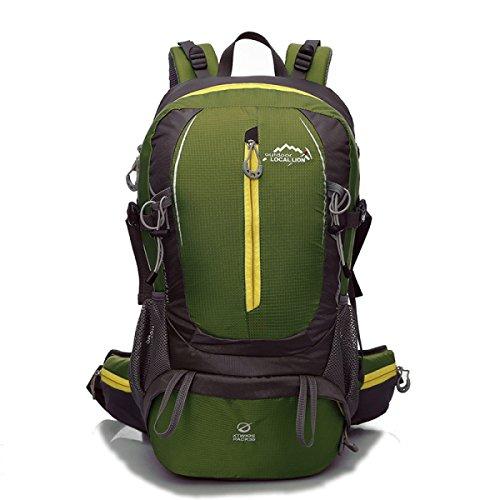 Nuovo L'alpinismo Nylon Zaino Moda Sport Viaggi Borsa 40L,Pink-OneSize Green